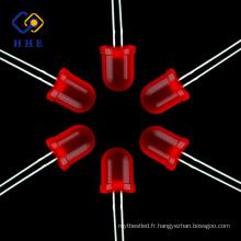 Vente chaude produits 10mm rouge diffusée ronde lampe led