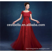 Chic Design Sexy Elegant Lace Red Grey Women Evening formal Dress 2016