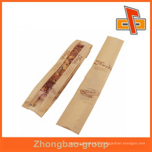 raw material baguette packing laminated paper bag with side gusset