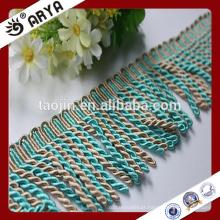 Hangzhou Taojin Stock Bullion Tassel Trim Fringe para Cortina Home Textile