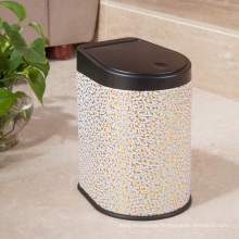 Gold Cloud Leather Press Waste Bin (H-3LC)