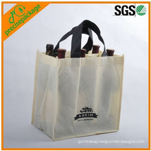 high quality customized promotional eco reusable non woven bottle wine bag