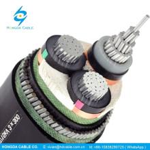 Cable de alimentación de aluminio de 11 kV 3 núcleos de 240 mm2 para uso industrial