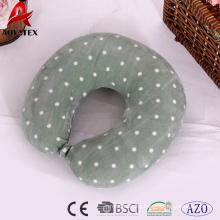 Горячая распродажа сплошной цвет DOT напечатано подушка для путешествий,использования в офисе U-образный подушку