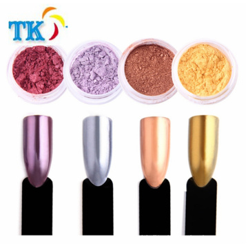 Rose gold powder for nail art