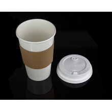 Custom Logo Printed Disposable Heat Proof Ripple Coffee Paper Cup Sleeve for 12oz, 16oz Cups
