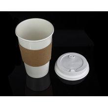 O logotipo feito sob encomenda imprimiu a luva descartável para 12oz, copos do copo de papel do café da ondinha da prova de calor 16oz copos