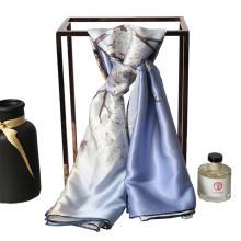Bufanda de mujer patrón de moda pura seda