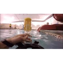 Máscara de mergulho para mergulho com snorkel e suporte para câmera subaquática