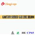 желтый подземный необнаруживаемых ленты предупреждение