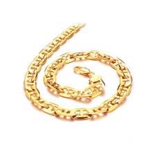 Коренастый Золотая цепь ожерелье,медь покрытие 18k золотое ожерелье для продажи