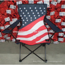 Polyester Flag Folding camping Chair With Flag Printing/Promotional updated flag lightweight folding beach chair