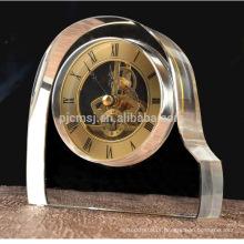 atacado venda quente nova moda relógio de cristal de mesa para lembrança