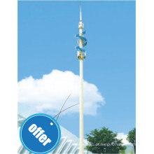 Mastros e torres de rádio por atacado feitos de pólo galvanizado