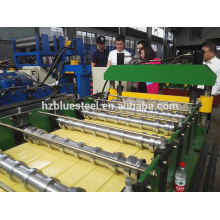 Mitsubishi PLC Automatic High Speed Steel Wall Panel Roll Forming Machine , Steel Metal Building Material Machinery