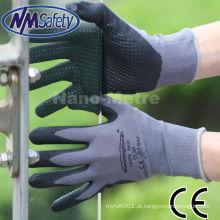 Espuma de nitrilo NMSAFETY & acabamento áspero e luvas de mão de segurança respirável
