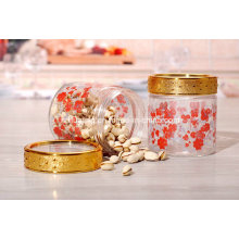500ml Fancy Storage Glass Jar with Golden Lid