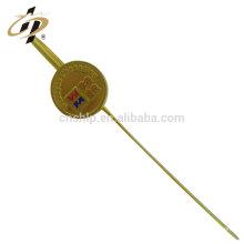 Artículos superventas latón personalizado boda decoración metal oro marcador