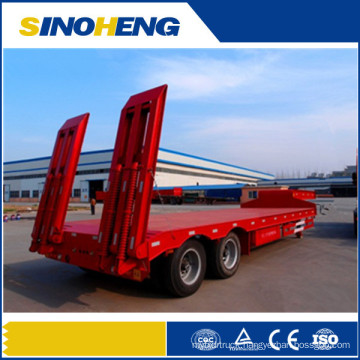 Hydraulic Low Bed Semi Trailer with Ladder