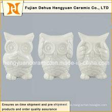 Mini búho de cerámica encantadora en alta calidad, (decoración casera)