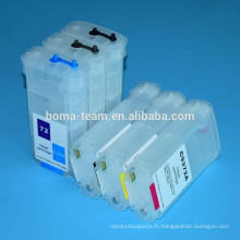 Pour hp 72 recharge cartouche d'encre pour hp jet d'encre T610 T620 T770 T790 T1200 T2300 cartouches d'imprimante