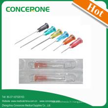 Aiguille de seringue hypodermique jetable de haute qualité pour usage unique
