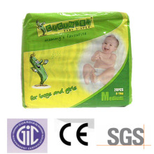 Baby Use Disposable Diaper with Dry Surface for Whole Night.
