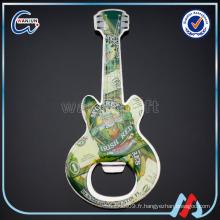 Ouvre-bouteille en forme de guitare en aluminium fabrique