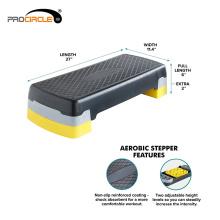 Superficie de paso antideslizante Paso aeróbico 108cmx42cmx15cm, 72cmx32cmx23cm