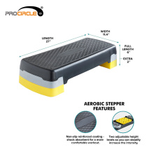 Non-slip Stepping Surface Aerobic Step 108cmx42cmx15cm, 72cmx32cmx23cm