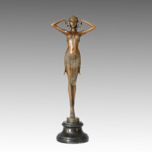 Bailarín Escultura de bronce Rendimiento / Show Decoración para el hogar Estatua de latón TPE-462