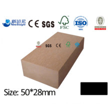 50*28mm Plastic Wood Joist WPC Joist WPC Keel Wood Plastic Composite Joist WPC Decking with CE SGS Fsc ISO for Decking Wall Panel Lhma118