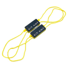 Garment Hang Tag Plastic String Seal Custom Embossed Name Logo Nylon Hangtag Lock Tag for Clothing