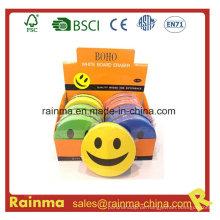 Lächeln Runde EVA Filz Magnetische Whiteboard Radiergummi