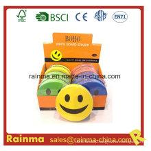 Smile Round EVA Felt Magnetic Whiteboard Eraser