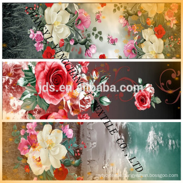 3D polyester rotary screen printed fabric
