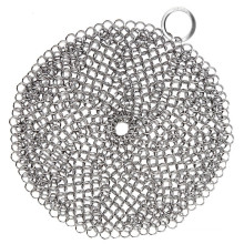 Stainless Steel Chainmail Scrubber for Iron Cleaning in Kitchen