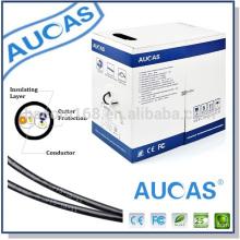 China fabricante Alta calidad 2 pares teléfono cable rj11 ventas calientes