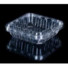 Caixa de empacotamento plástica descartável da fruta do produto comestível claro