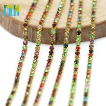 Suministre a granel los colores decorativos del encanto de la mezcla de colores Cierre la cadena de la taza de plata para los artes, G0104
