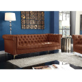 American style Luxury High Quality Upholstery 3 seat Brown Leather Recliner Sofa Couch for Living Room