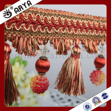 2016new design grapes beads and tassel Fringe for Curtain decoration
