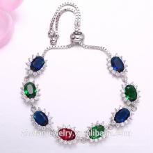 bracelet en pierre multi-couleur bracelet en argent pendentif bijoux
