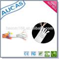 Cat5e / 6 cabo de remendo plano da Ethernet da rede / UTP FTP 24AWG 4 pares 8 cabo de remendo liso do lin do núcleo / cabo de ligação chapeado ouro snagless