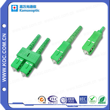 Sc/APC Connector 0.9/2.0/3.0 High Quality Fiber Optic Sc Connector