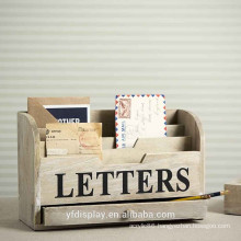 Retro Wooden Letter Holder
