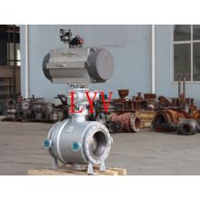 A classe 150 flangeou válvula de bola de flutuação de aço inoxidável com anti projeto de Blew