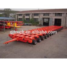 80-300t que carga el peso remolque hidráulico modular del camión de la dirección de los ejes múltiples de 8 ejes de alta calidad 8 filas