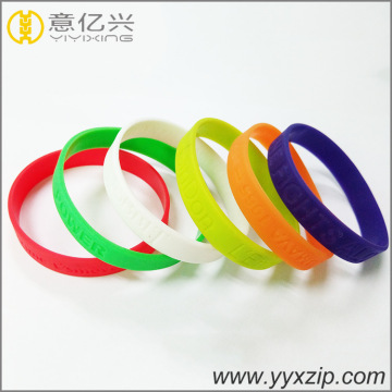 promotional gifts debossed your logo rubber bracelet