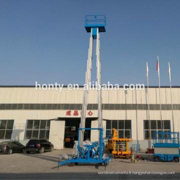 14m 250kg plate-forme de travail aérienne électrique utilisation de la maison haute élévation homme nettoyage de vitres ascenseur